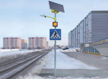 Комплект освещения пешеходного перехода «STGM» на солнечных электростанциях
